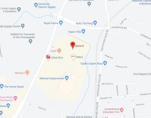 Halethorpe MD Map